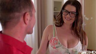 xxxnxx xzxx ultra hot & busty secretary in glasses rides hard dick