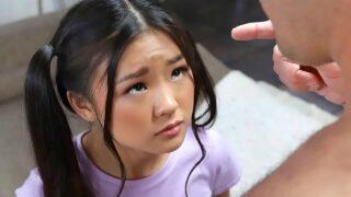xnxx hd videos Tiny teen Asian schoolgirl hard fuck by big cock